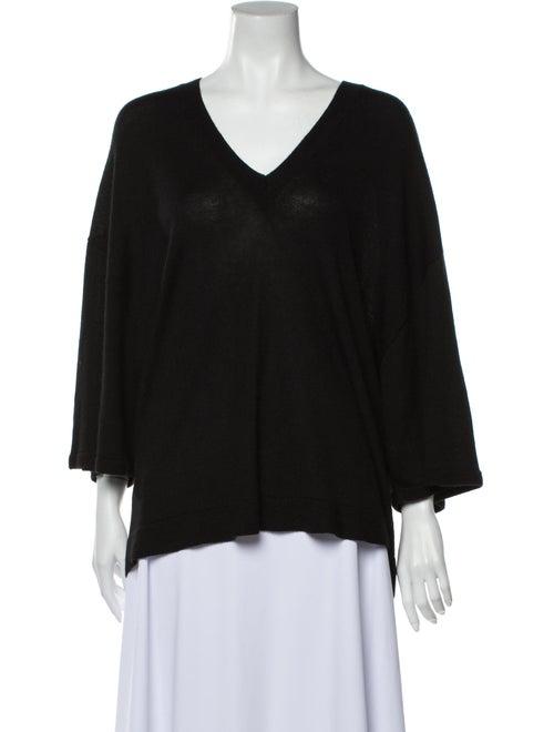 The Row V-Neck Sweater Black