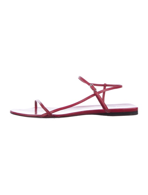 The Row Bare Sandal Flat Leather Slingback Sandals