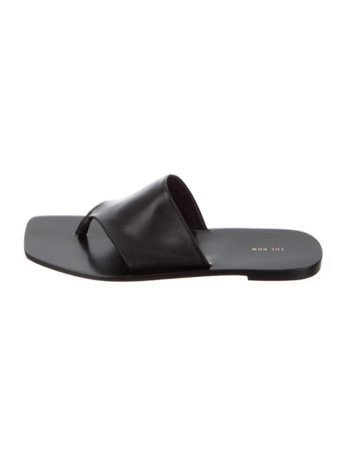 The Row Napa Leather Sandals Black