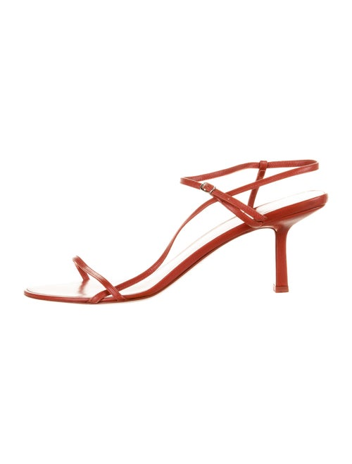 The Row Leather Slingback Sandals Red