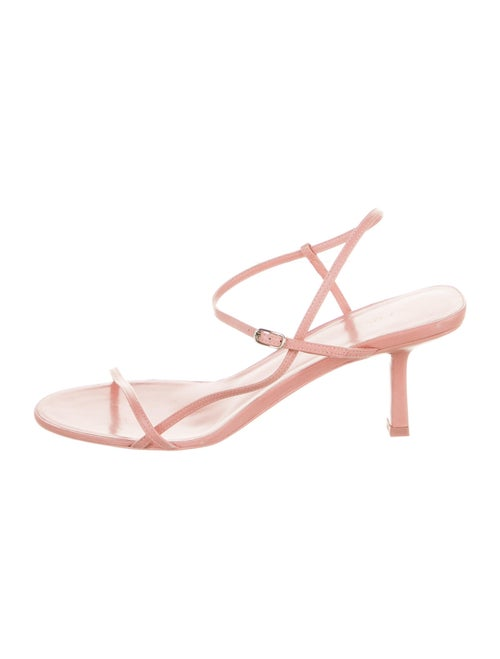 The Row Bare Leather Sandals Pink