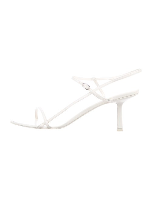 The Row Bare Leather Sandals White