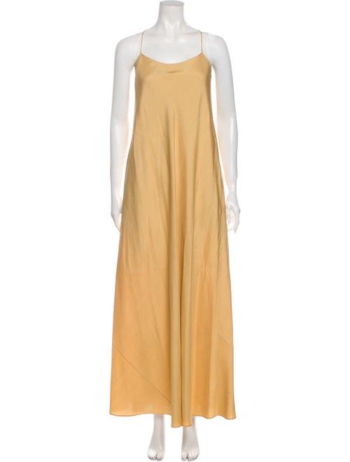 The Row Silk Long Dress Gold