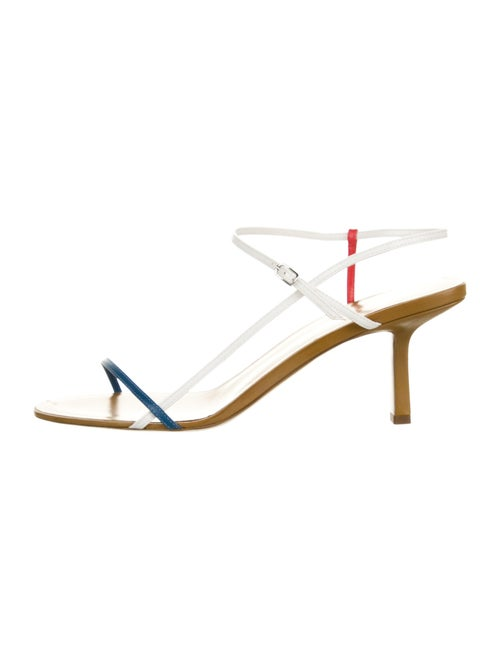 The Row Leather Colorblock Pattern Sandals Blue