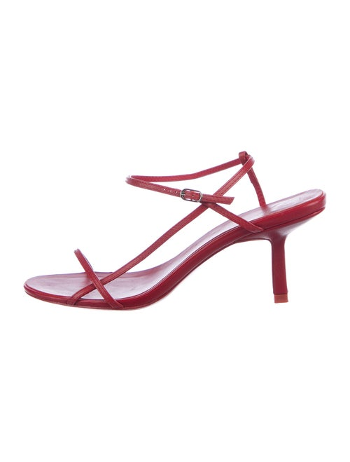 The Row Leather Sandals Red
