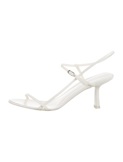 The Row Bare Leather Slingback Sandals White