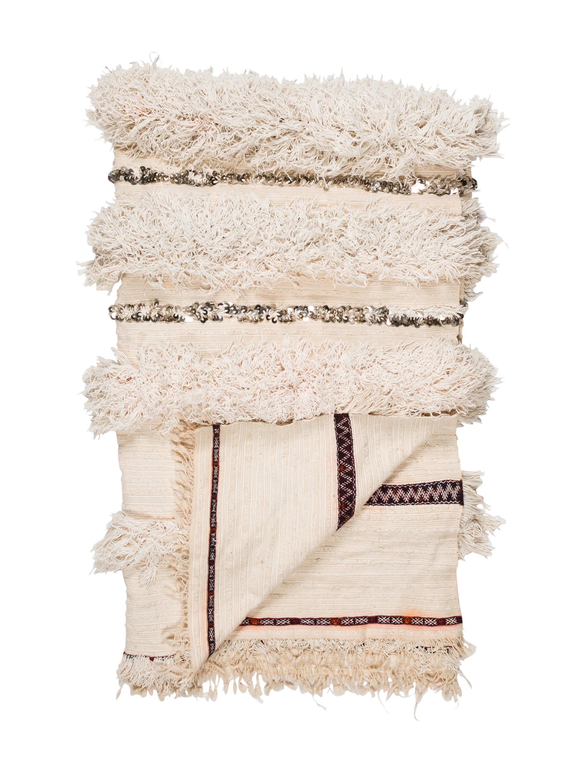 Soukie Modern Moroccan Wedding Blanket - Pillows And Throws - THROW20044 The RealReal