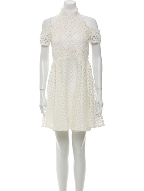 Thurley Lace Pattern Mini Dress