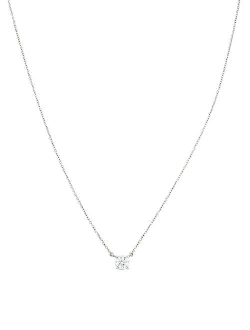 Tiffany Co Platinum Diamond Solitaire Pendant Necklaces Tif100070 The Realreal