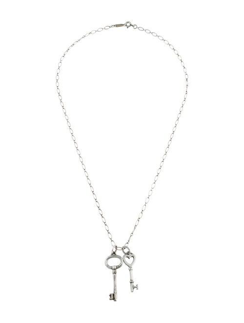 Double Key Pendant Necklace