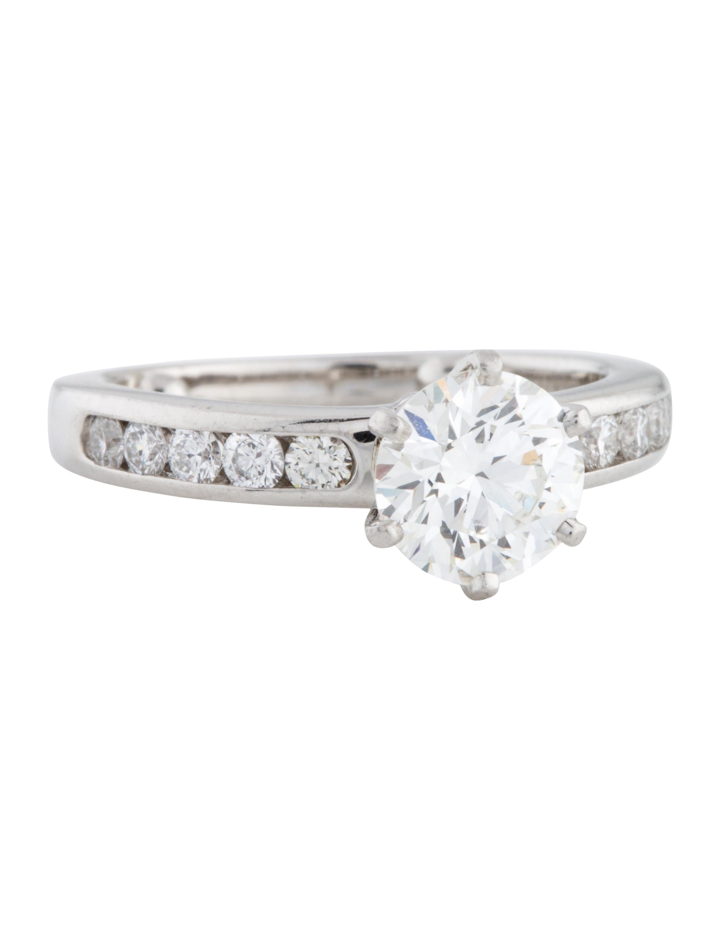 Tiffany Co Platinum The Tiffany Setting Engagement Ring Rings
