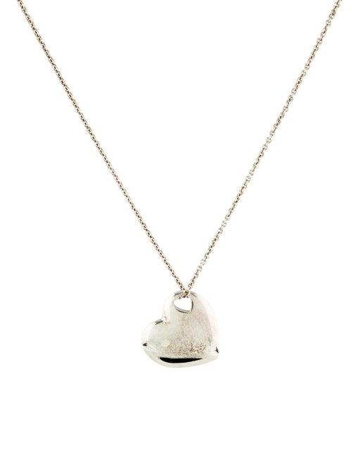 Tiffany & Co. Heart Stencil Pendant Necklace silve
