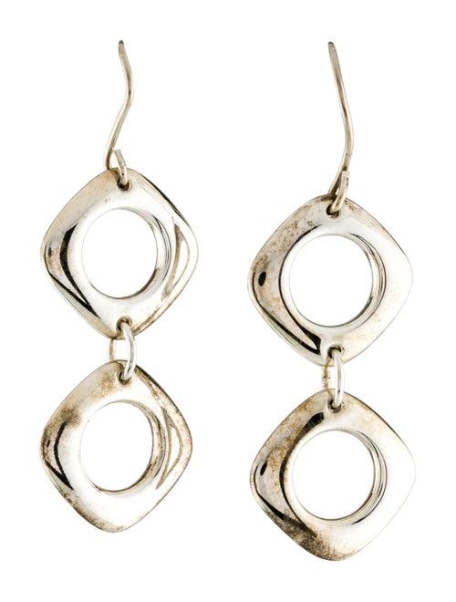 Tiffany & Co. Cushion Drop Earrings silver