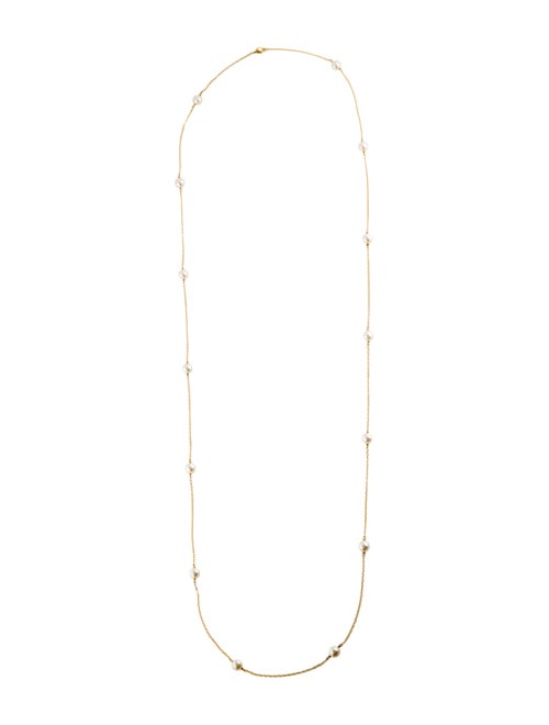 Tiffany & Co. 18K Pearl Bead Elsa Peretti Necklace