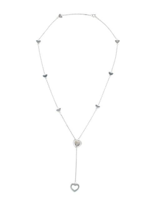 Tiffany & Co. Stencil Heart Lariat Necklace Silver