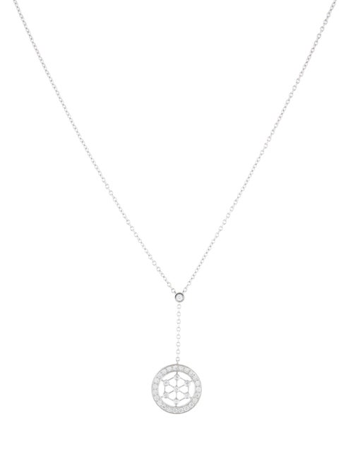 Tiffany & Co. Platinum Diamond Voile Pendant Neckl