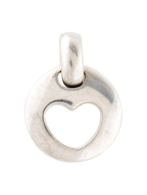 Tiffany & Co. Stencil Heart Pendant Silver