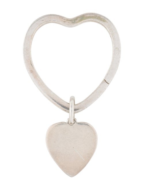 Tiffany & Co. Sterling Silver Heart Keyring silver