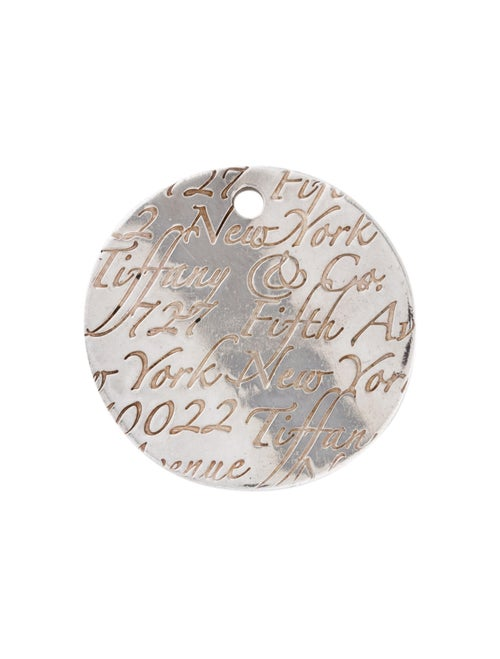 Tiffany & Co. Small Tiffany Notes Round Pendant Si