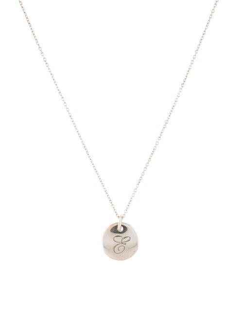 Tiffany & Co. Tiffany Notes 'E' Charm Necklace Sil