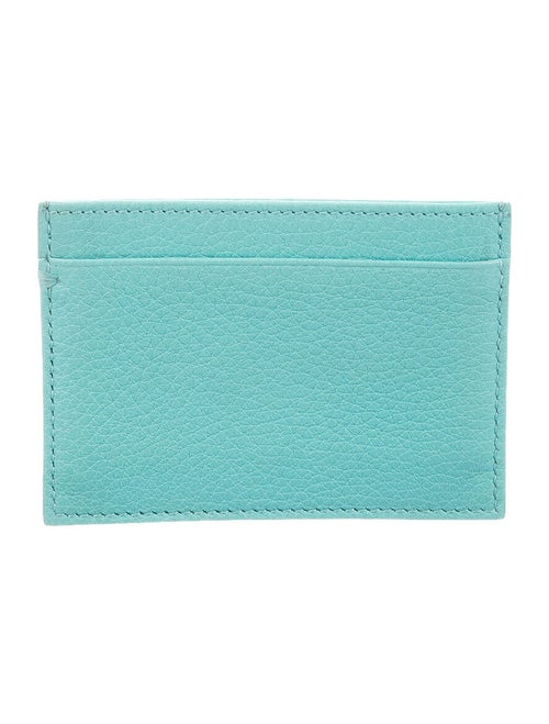 Tiffany & Co. Leather Card Holder Green