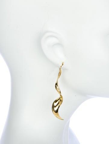 Frank Gehry Orchid Drop Earrings