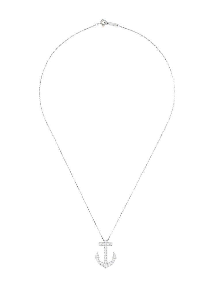 Tiffany co diamond anchor pendant necklace necklaces diamond anchor pendant necklace aloadofball Choice Image