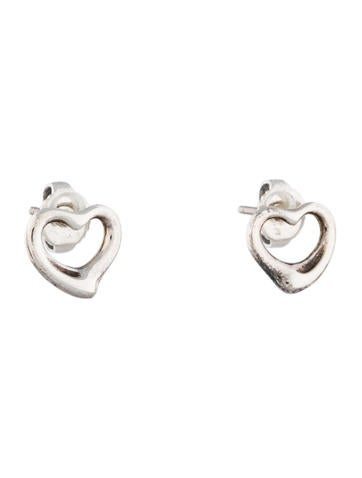 Mini Open Heart Earrings