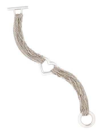 Ten Chain Heart Bracelet