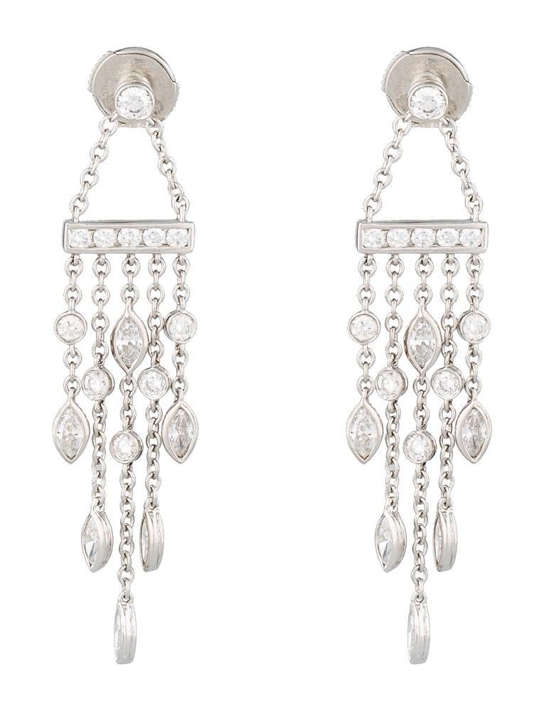 Tiffany Co 200ctw Diamond Swing Drop Earrings Earrings – Tiffany Chandelier Earrings