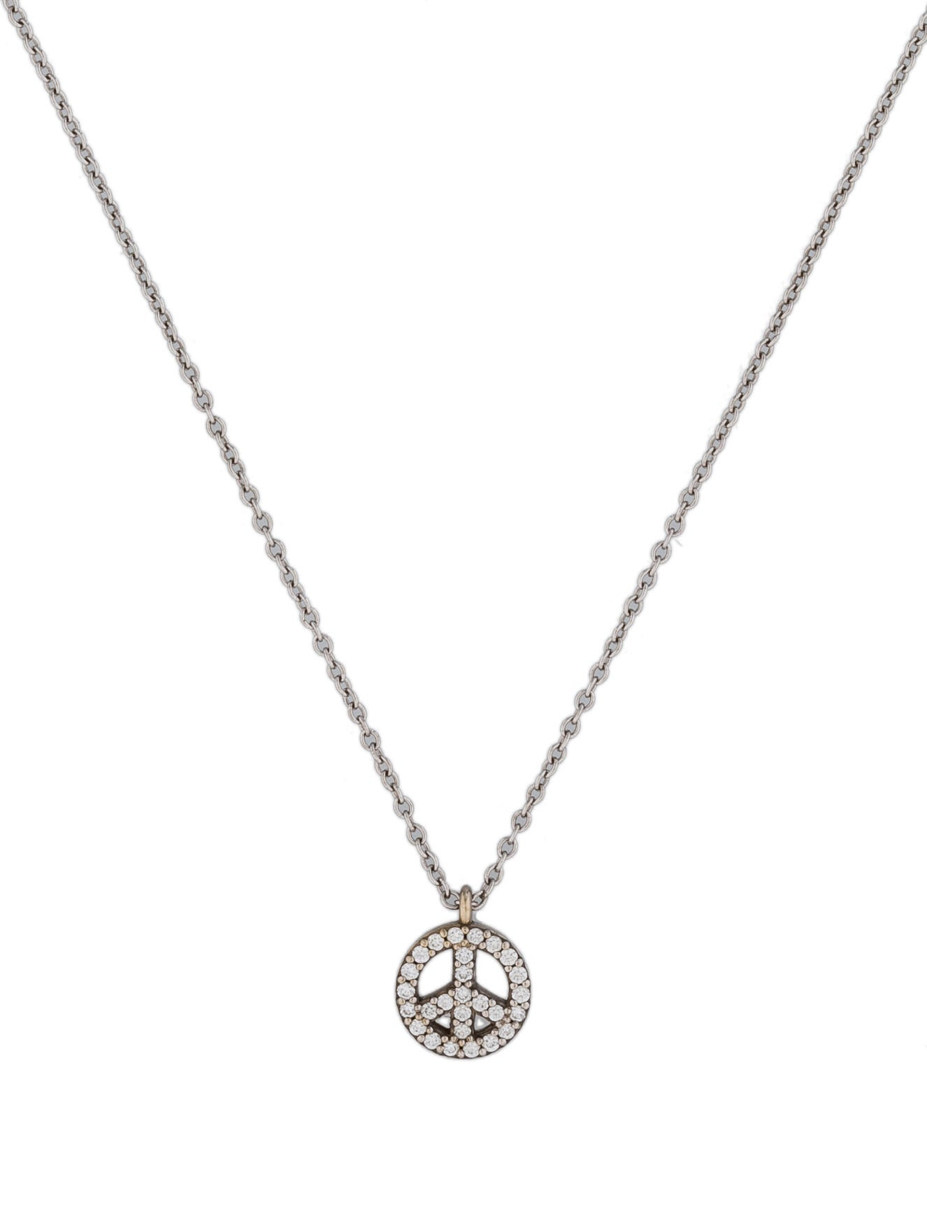 Tiffany co metro peace sign pendant necklaces tif25171 metro peace sign pendant mozeypictures Choice Image