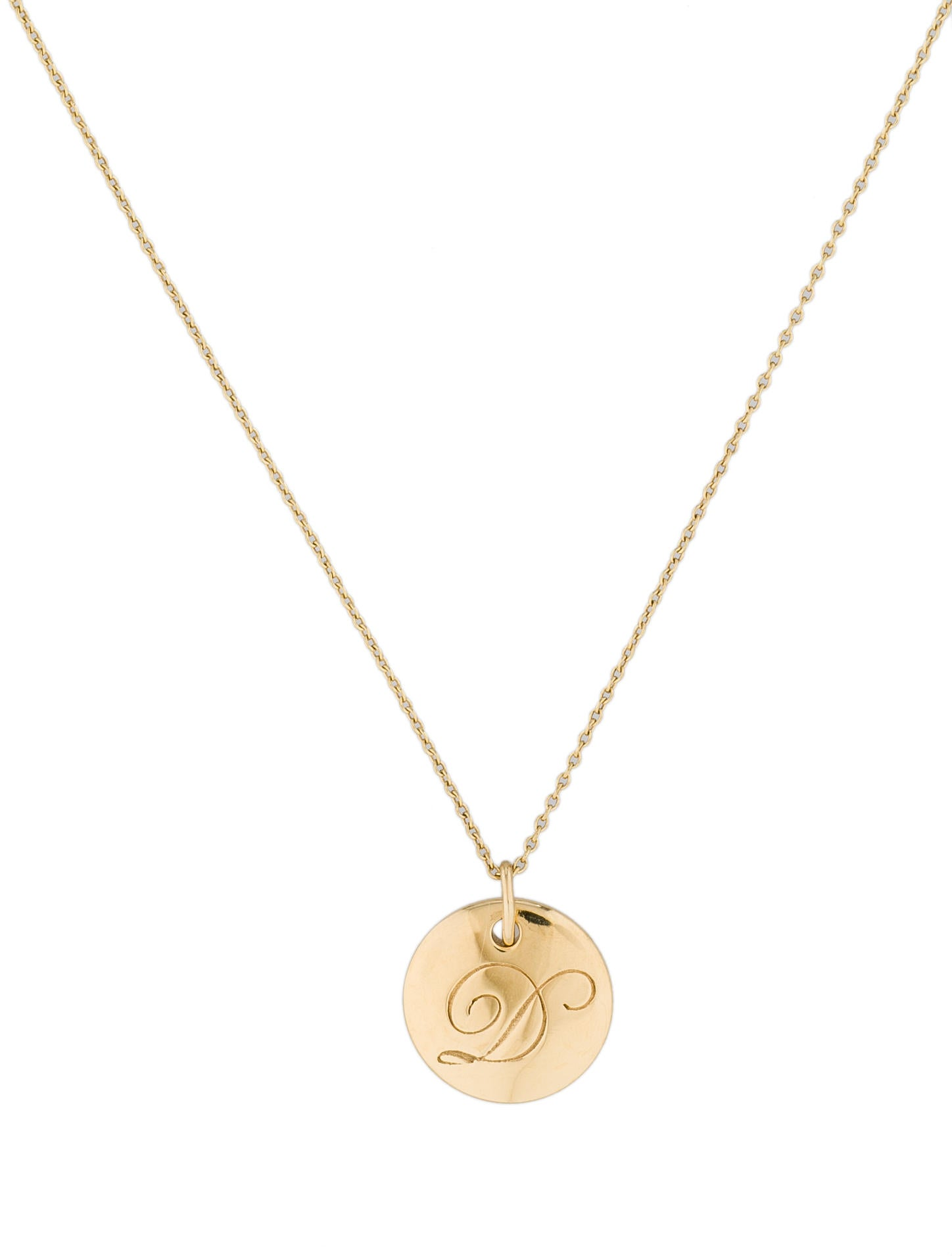 2056ff06e360 Tiffany   Co. Notes Alphabet Disc Charm - Necklaces - TIF25312