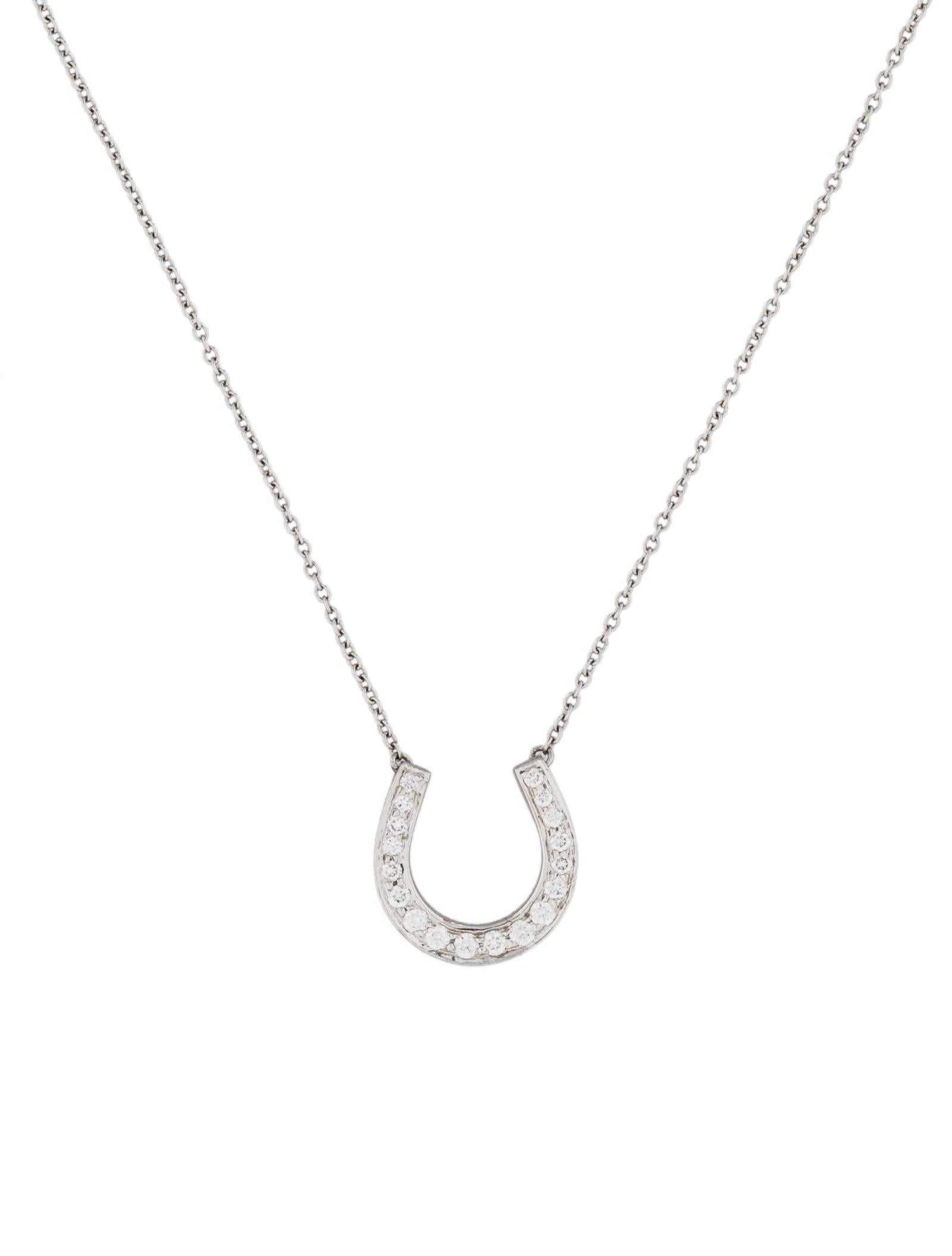 Tiffany co diamond horseshoe pendant necklaces tif25718 the diamond horseshoe pendant aloadofball Image collections