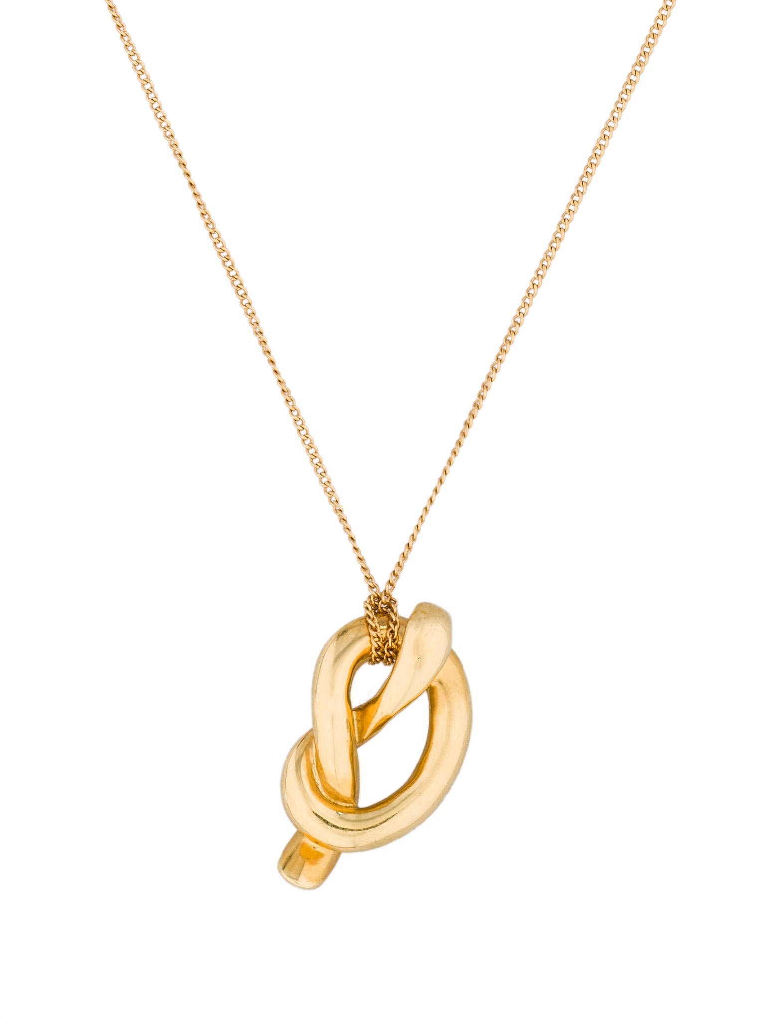 colour size three pendant knot full zirconia gold cubic b open