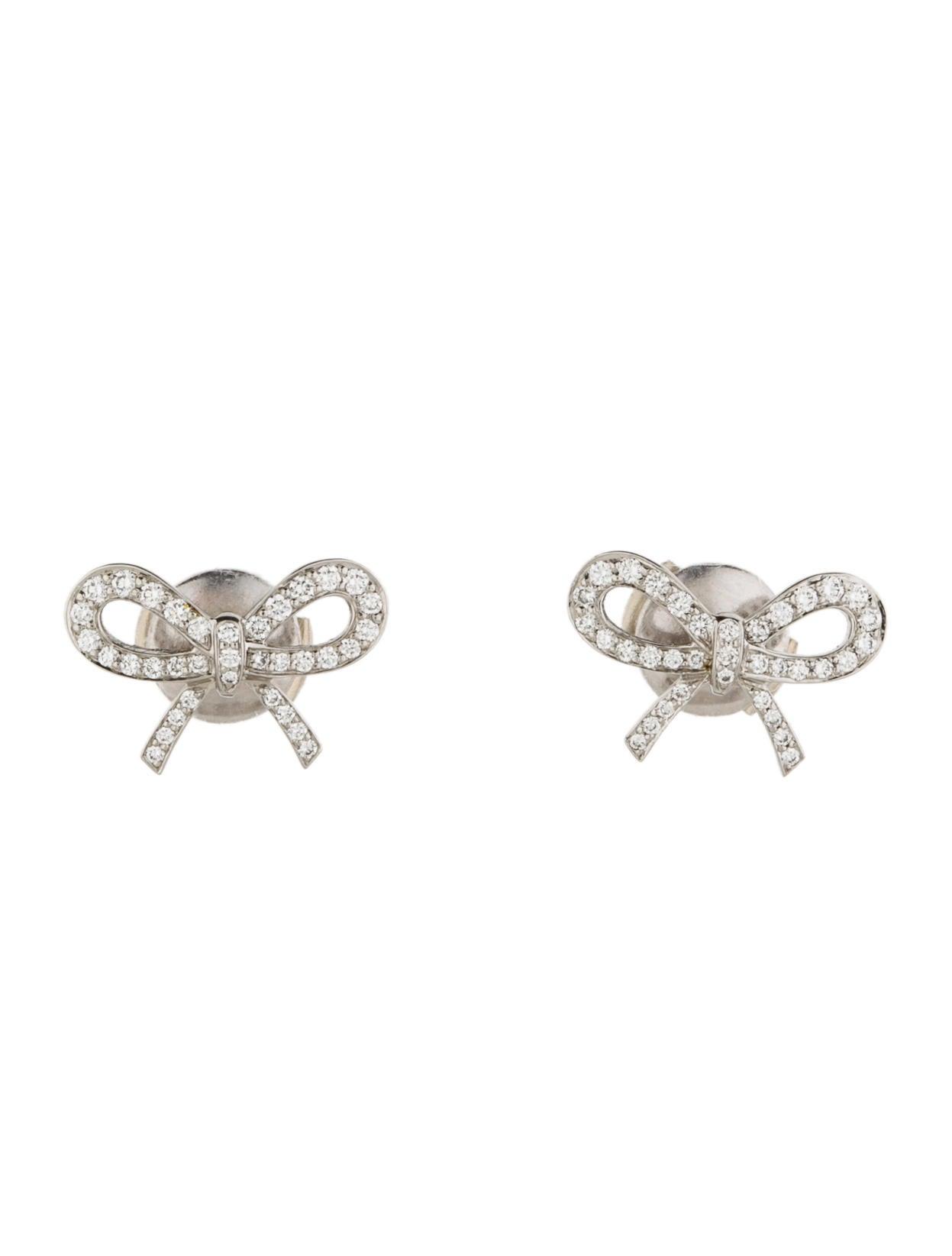 Tiffany & Co Diamond Bow Earrings Earrings TIF