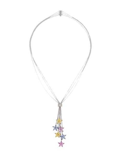 99023241d Tiffany & Co. Sapphire & Diamond Star Cluster Necklace - Necklaces ...