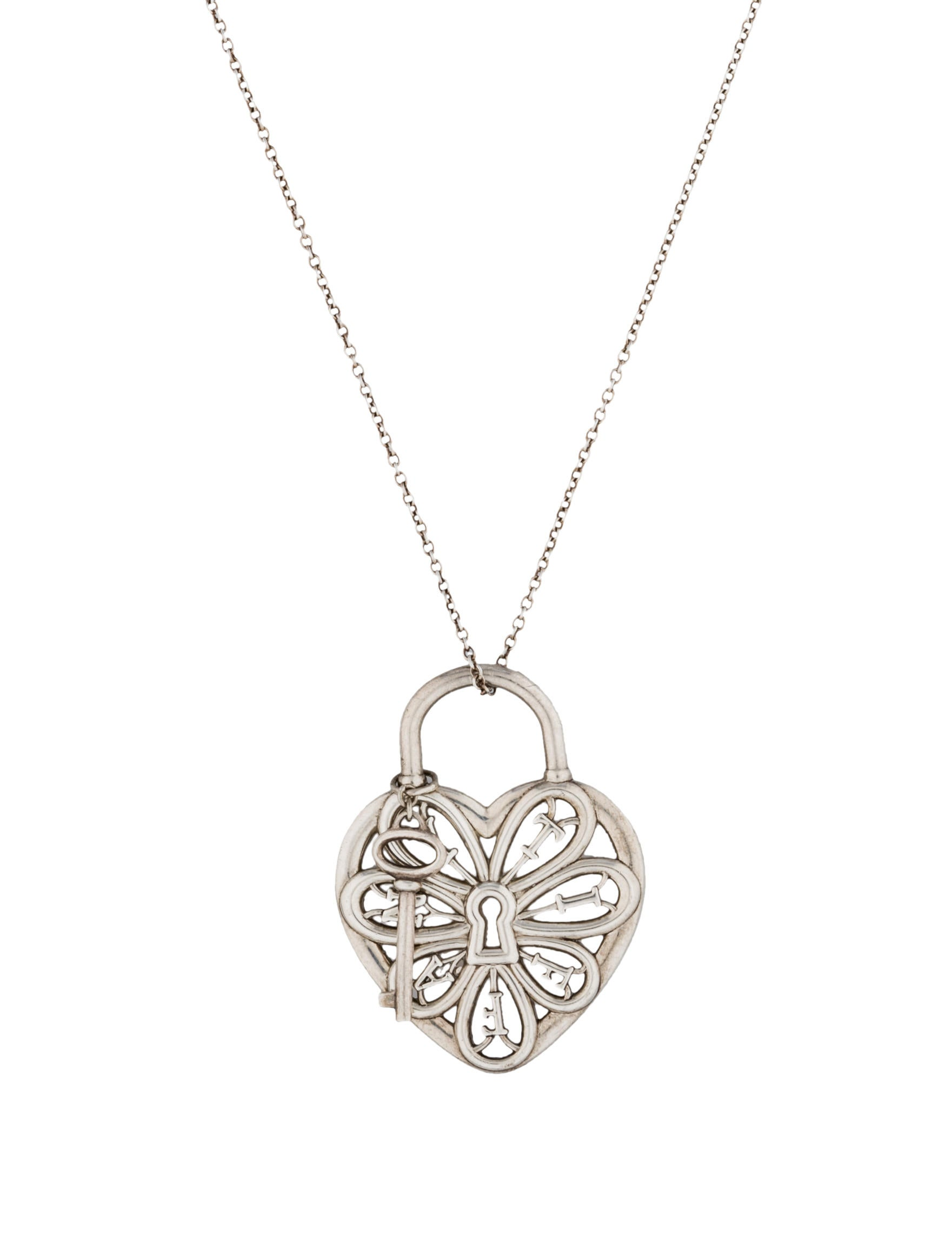 Beautiful tiffany filigree heart necklace with key jewellrys website tiffany co filigree heart pendant necklace necklaces aloadofball Images