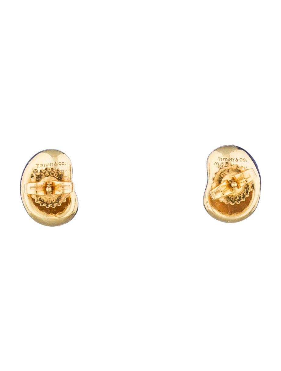 Lapis Bean Earrings