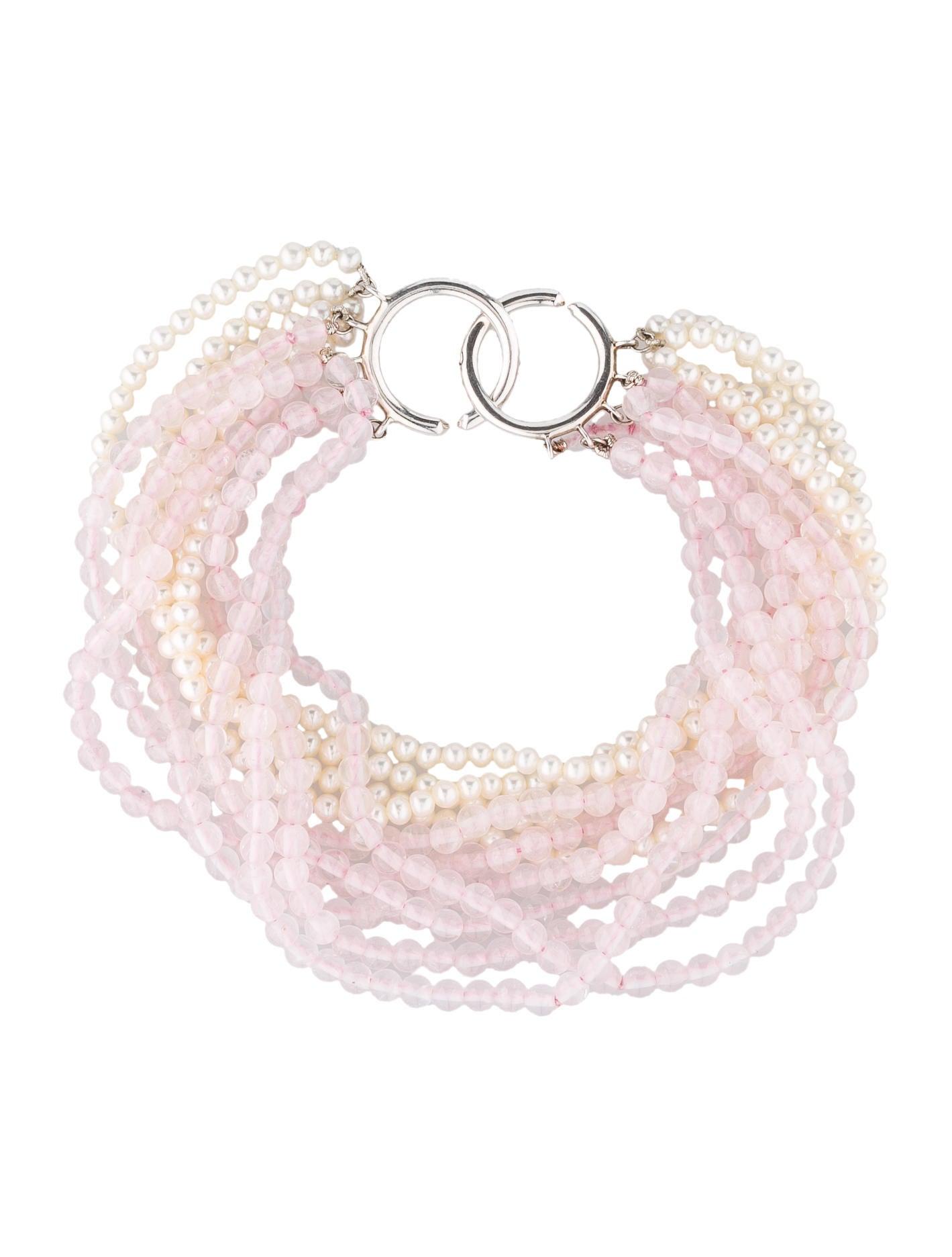 6905df1e2 Tiffany & Co. Rose Quartz & Pearl Bracelet - Bracelets - TIF26171 ...