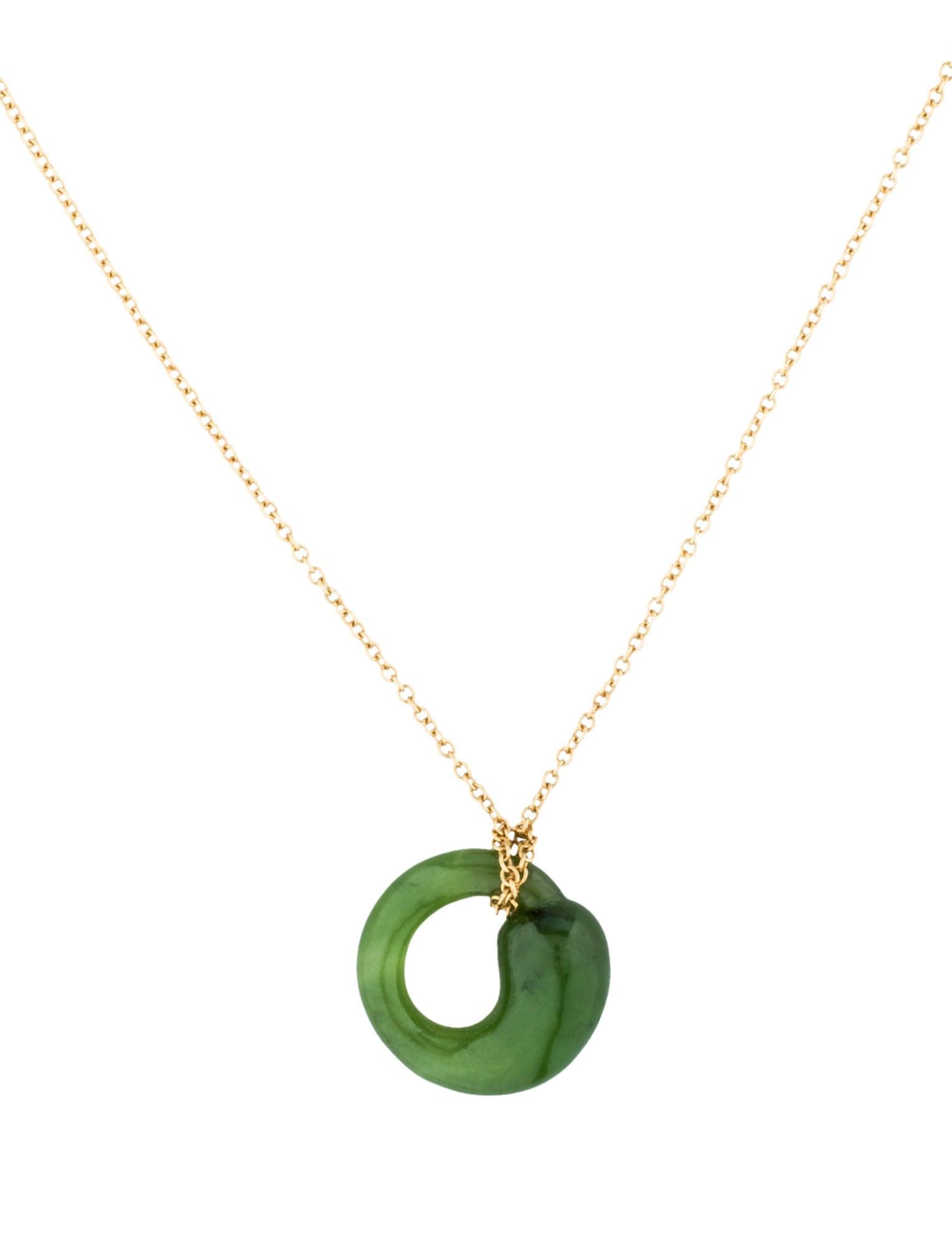 Tiffany co jade eternal circle pendant necklace necklaces jade eternal circle pendant necklace mozeypictures Gallery