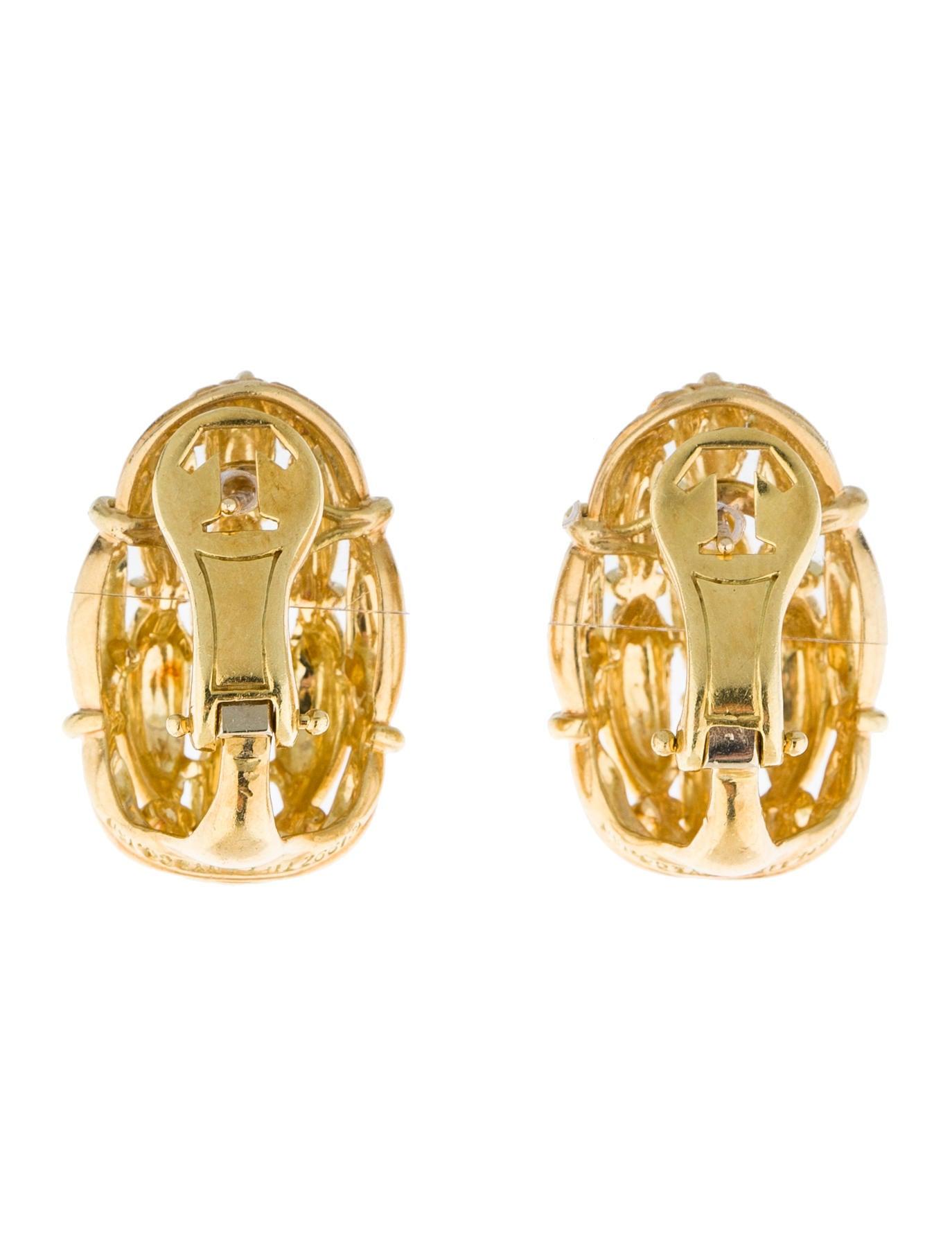 Basket Weaving Jewelry : Tiffany co basket weave earrings tif
