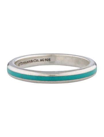 Tiffany Amp Co Thin Enamel Stack Ring Rings Tif27008