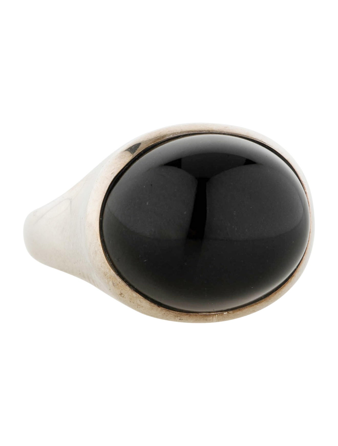 black bario half rings back neal moon jade ring