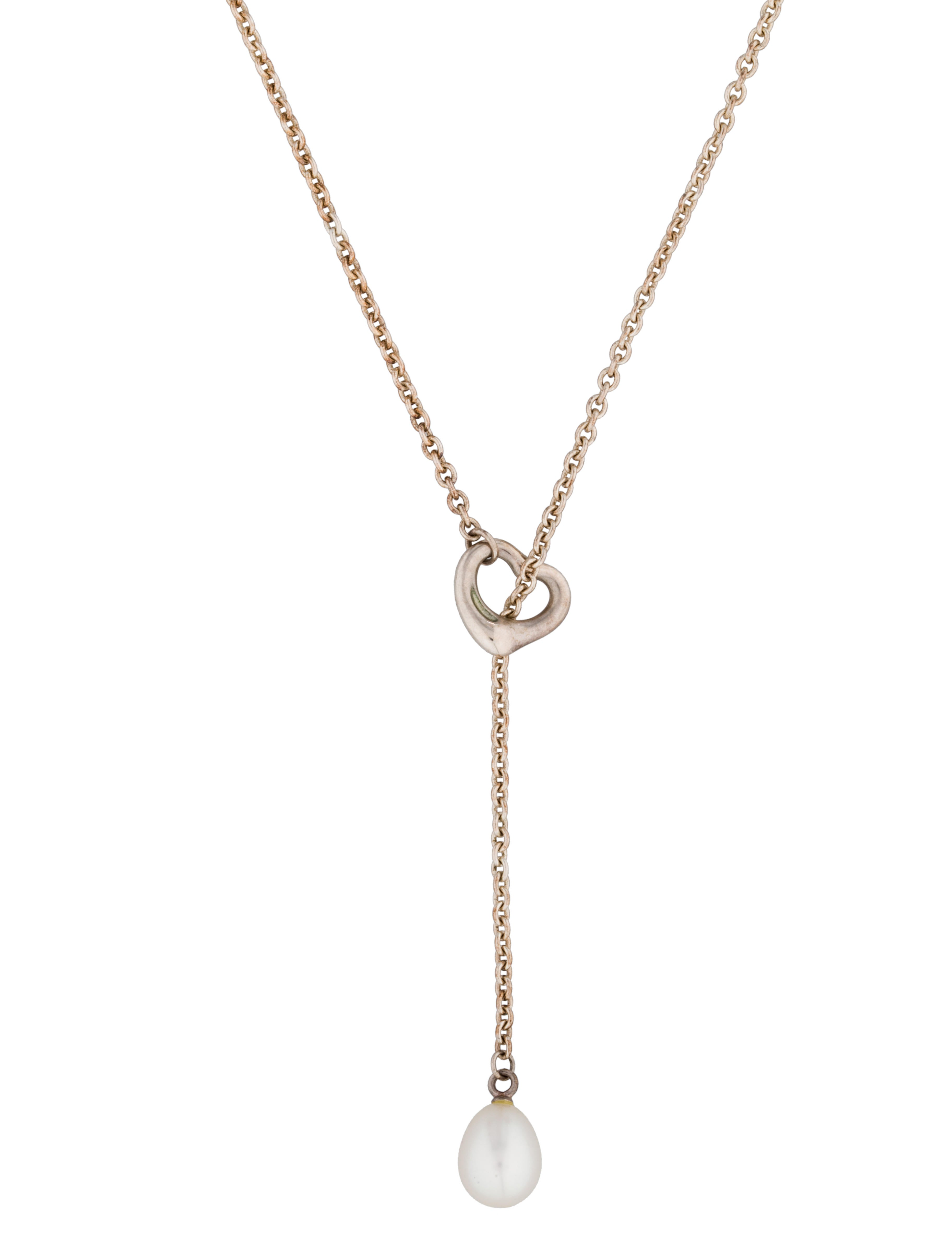 Tiffany co elsa peretti open heart lariat necklace necklaces elsa peretti open heart lariat necklace aloadofball Images