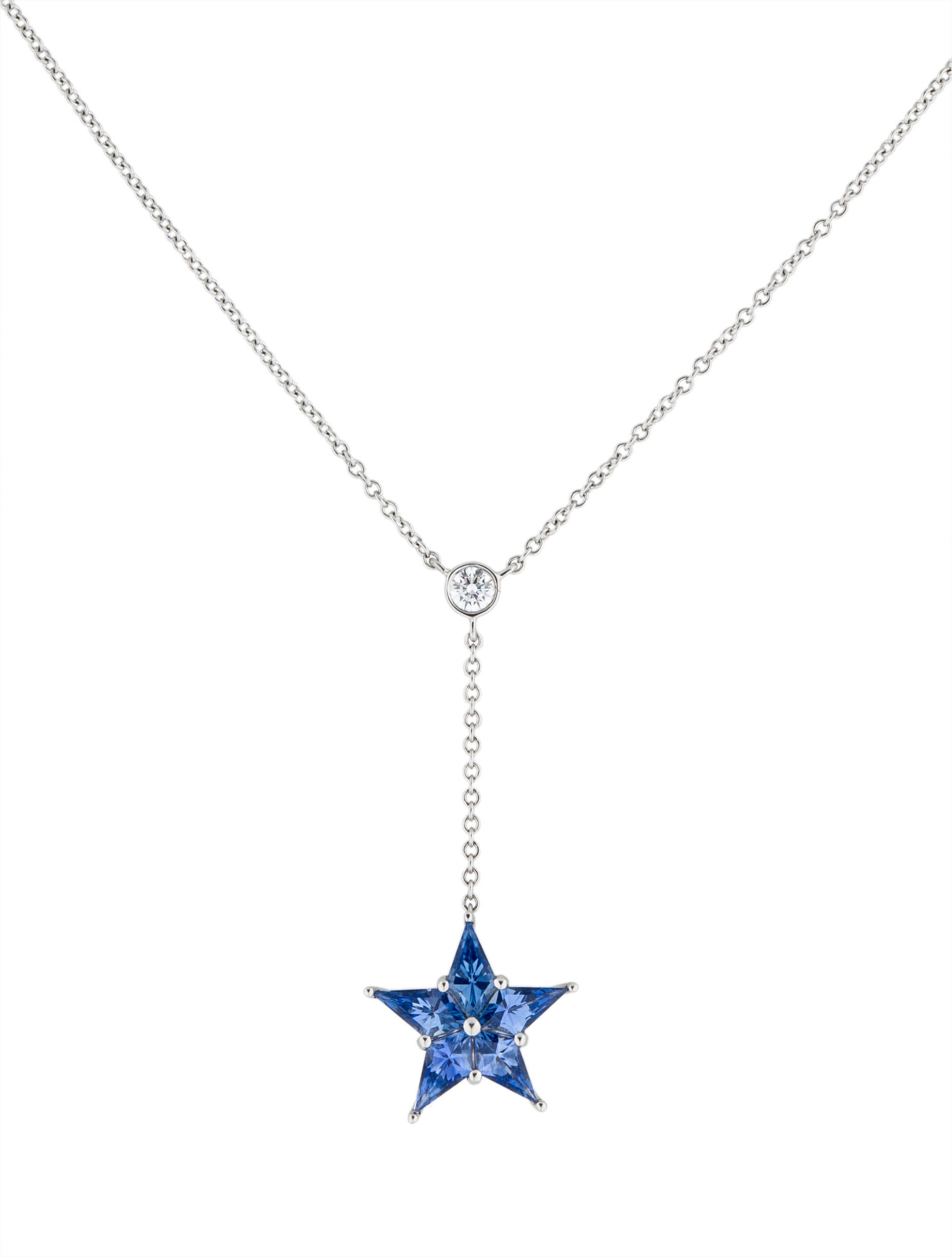 Tiffany co sapphire star pendant necklace necklaces sapphire star pendant necklace aloadofball Gallery