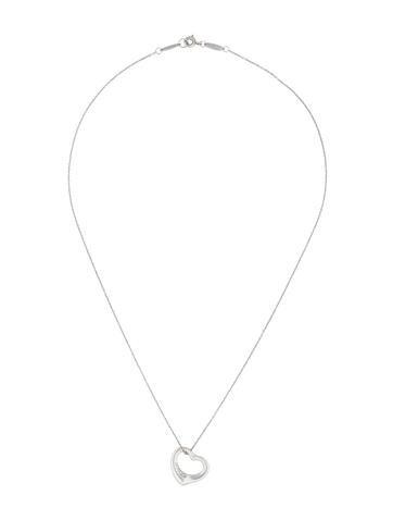 Diamond Open Heart Pendant Necklace