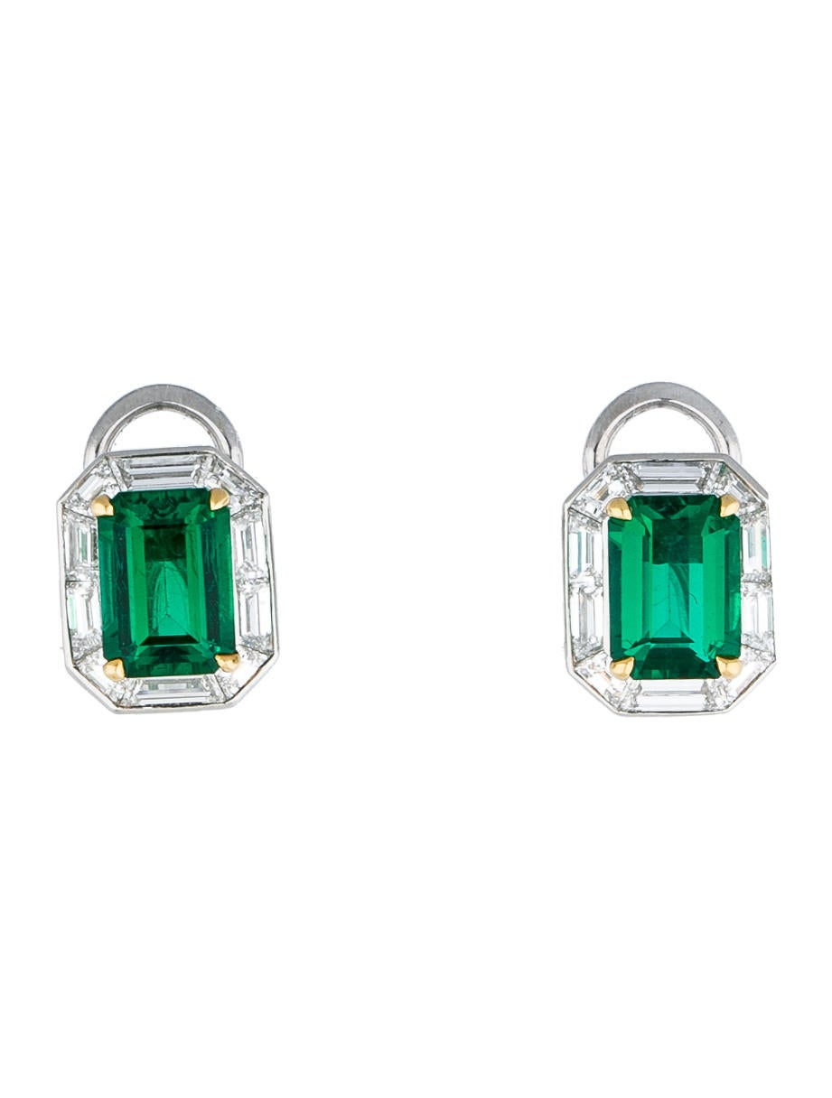 Tiffany Co Emerald And Diamond Earrings Tif28371 The Realreal