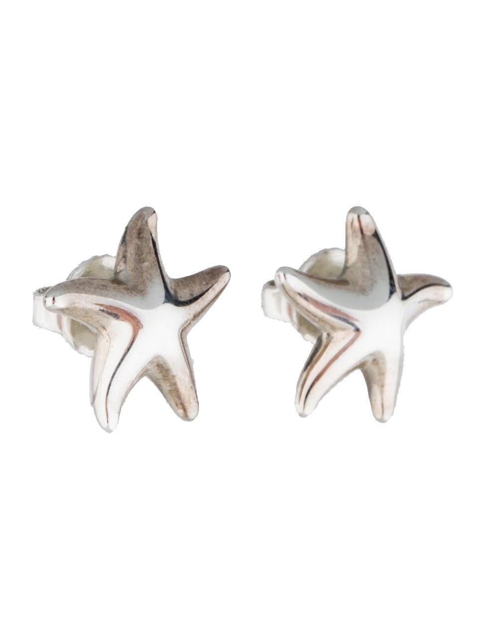 co sterling silver starfish stud earrings
