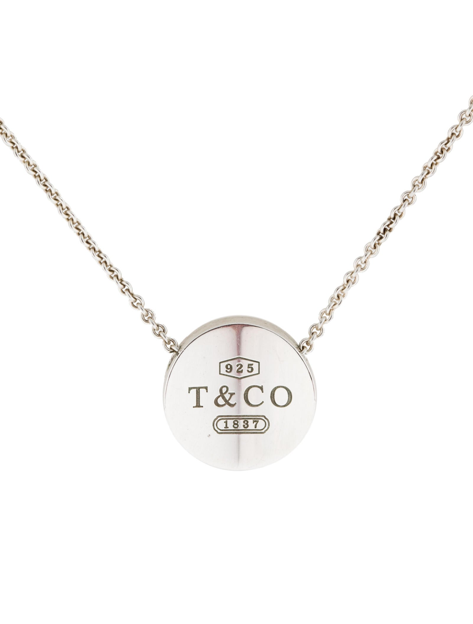 Tiffany co 1837 concave circle pendant necklace necklaces 1837 concave circle pendant necklace mozeypictures Gallery