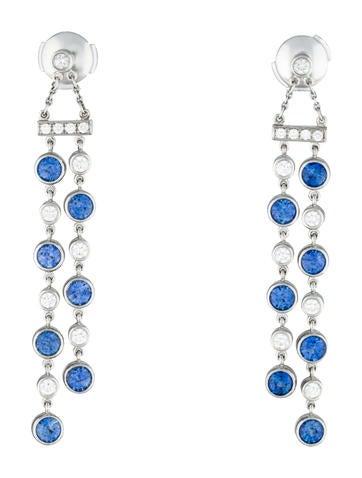 Double Jazz Sapphire & Diamond Earrings